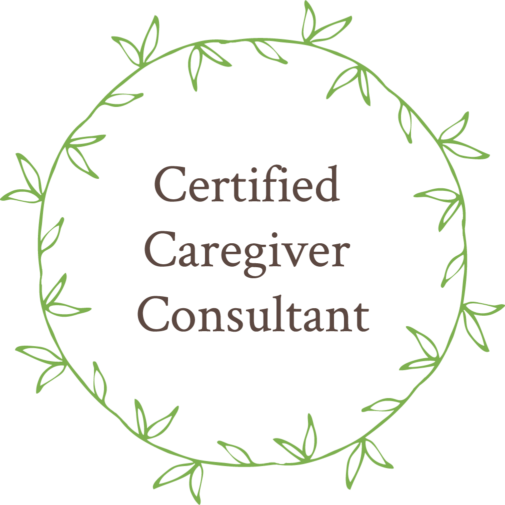 Certified Caregiver Consultant wreath graphic