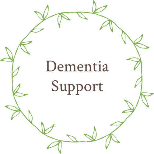 Dementia Support wreath graphic
